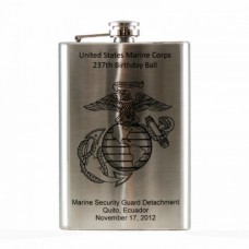 Laser Engraved 8oz Hip Flask